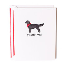 Good Dog Thank You Greeting Card - Red