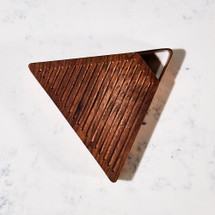 Walnut & Copper Triangular Serving Board by Meadors Inc.