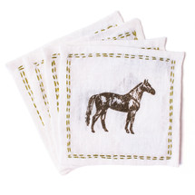 Thoroughbred Linen Cocktail Napkins