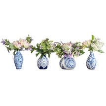Blue and White Bud Vase Collection & Stems