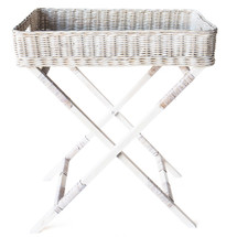 Rattan Butler Tray &  Stand