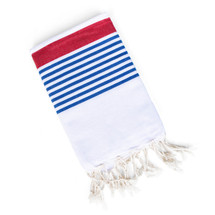 Red, White, & Blue Turkish Towel