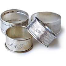 Vintage Sterling Napkin Rings