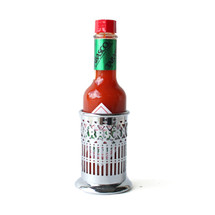 Hot Sauce Holder and Tabasco Sauce Set