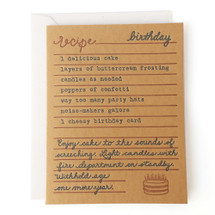 A Birthday Recipe Greeting Card - Belle & Union