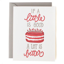 If A Little Is Good Greeting Card - Belle & Union
