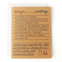 Wedding Recipe Greeting Card - Belle & Union