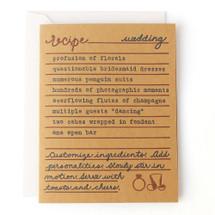 Wedding Recipe Greeting Card - Belle & Union