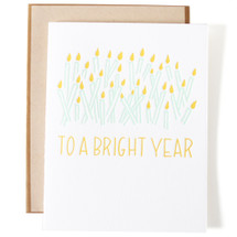 To A Bright Year Greeting Card - Ink Meets Paper