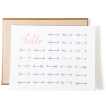 Hello Arrows Greeting Card - Ink Meets Paper