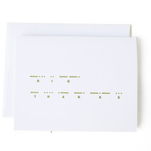 Morse Code Greeting Card - Sideshow Press
