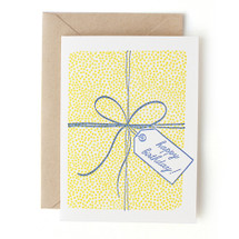 Dotted Packages Tied With String Greeting Card - Grove Street Press