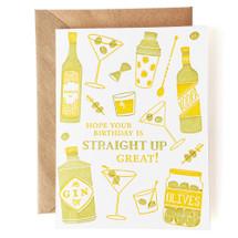 Straight Up Birthday Greeting Card - Grove Street Press