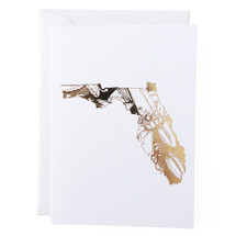 Florida State Greeting Card - Thimblepress
