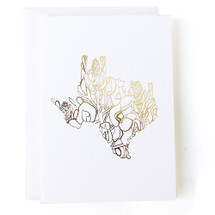 Texas State Greeting Card - Thimblepress