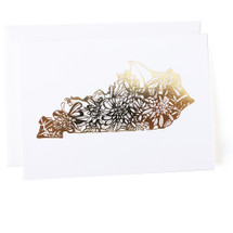 Kentucky State Greeting Card - Thimblepress
