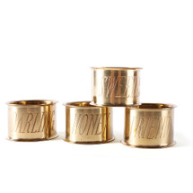 Terms of Endearment Brass Napkin Rings