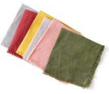 Multicolored Linen Cocktail Napkins