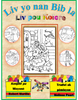 Books of the Bible Coloring Book Haitian Creole (66 Pages)