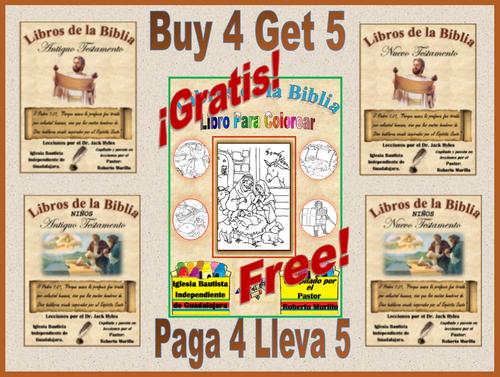 """Buy all 4 of the """"Through the Bible Series"""" in Spanish, Get the Coloring Book for Free!  ¡Compra los 4 del Juego """"Libros de la Bible"""" y recibe el Libro de Colorear Gratis!"""