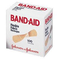 "Band-Aid Flexible Fabric Strip Adhesive Bandag 3/4"" x 3""  534434-Box"
