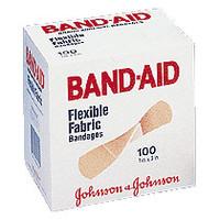 "Band-Aid Flexible Fabric Adhesive Bandage 1"" x 3""  534444-Box"