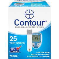 Bayer Contour Blood Glucose Test Strip (25 count)  567070-Box