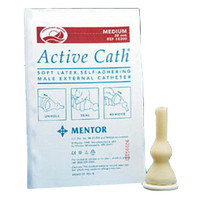 Active Cath Latex Self-Adhering Male External Catheter with Watertight Adhesive Seal, 28 mm  768300-Each