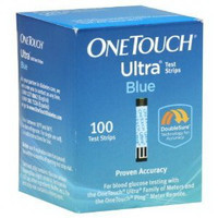 OneTouch Ultra Blue Blood Glucose Test Strip (100 count)  70020245-Box