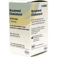 Accutrend Cholesterol Test Strips 25/Vial  5905213312160-Box