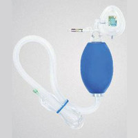 "Adult Resuscitation Device with Mask and 40"" Oxygen Reservoir Tubing, With PEEP Valve  552K8036-Each"