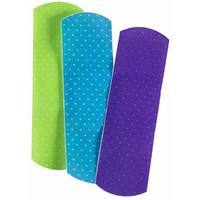 "Cardinal Health Sterile Adhesive Plastic Bandage, Neon Design, 3/4"" x 3""  55CBDPGR-Box"