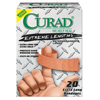 Curad Extreme Hold Fabric Adhesive Bandage, Assorted Sizes  60CUR14924RB-Box