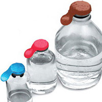 ChemoPlus IVA Seal for 28 mm Top Bottle and Piggyback Container, Silver  68CP3001-Case