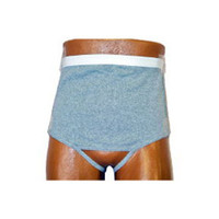 Men's Wrap/Brief with Open Crotch and Built-in Ostomy Barrier/Support Gray, Right-Side Stoma, Small 32-34  8093206SR-Each