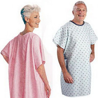 Adult Patient Gown, Blue Plaid  84500BP-Each
