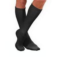 SensiFoot Crew Length Mild Compression Diabetic Sock Medium, Black  BI110852-Each