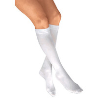 Anti-EM/GP Anti-Embolism Knee-High Seamless Elastic Stockings Large, White  BI111474-Each