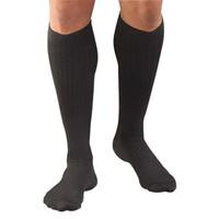 Activa Men's Microfiber Pinstripe, 20-30 mmHg, Closed Toe, Black, Medium  BIH3462-Each