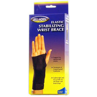 "BellHorn Elastic Stabilizing Left Wrist Brace, Medium, 61/2""  71/2"" Wrist Circumference, Black"