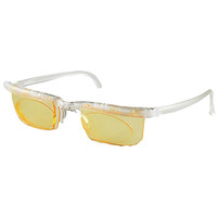 Computer Eyewear with Natural Frame and Yellow Lenses