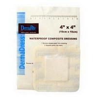 """DermaDress Waterproof Composite Dressing 4"""" x 4"""""""