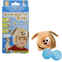 Cool Gel N Cap Kids Ice and Heat Packs with First Aid Cap, Toby The Puppy