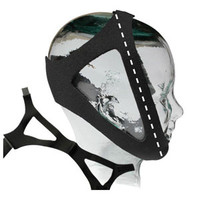 "Adjustable Chinstrap, Regular 7"", Black"