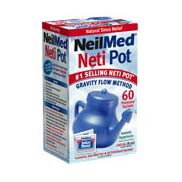 NasaFlo Neti Pot with Premixed Packets