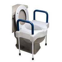 Ableware TallEtte Extra Wide Toilet Seat with Steel Frame