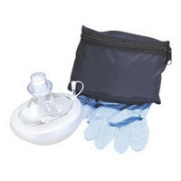 CPR Micromask, Reusable, Clear, Blue Pouch