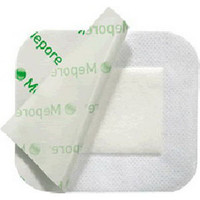 "Mepore Adhesive Absorbent Dressing 3.6"" x 4"""