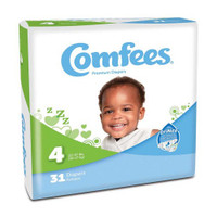 Comfees Baby Diapers - Size 4  48CMF4-Pack(age)