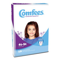 Comfees Girl Training Pants - Size 4T-5T  48CMFG4-Pack(age)